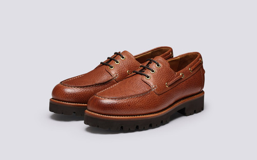 Dempsey | Mens Shoes in Tan Natural Grain Leather | Grenson - Main View