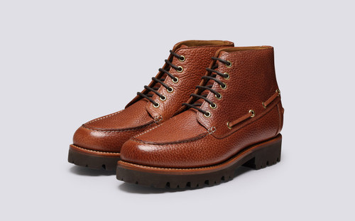 Easton | Mens Boots in Tan Natural Grain Leather | Grenson - Main View