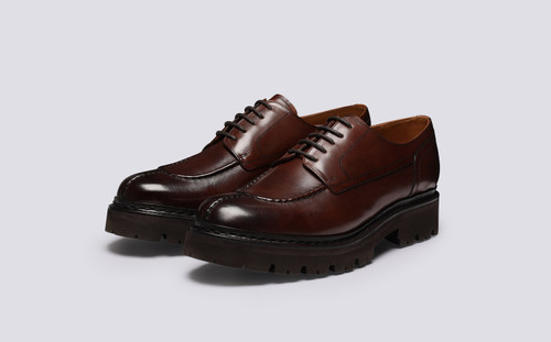 Joel | Mens Shoes in Dark Brown Leather | Grenson - Main View