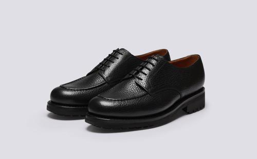 Parker | Mens Shoes in Black Natural Grain | Grenson - Main View