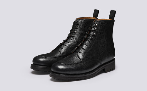 Sawyer | Black Boots for Men with Rubber Sole | Grenson - Main View