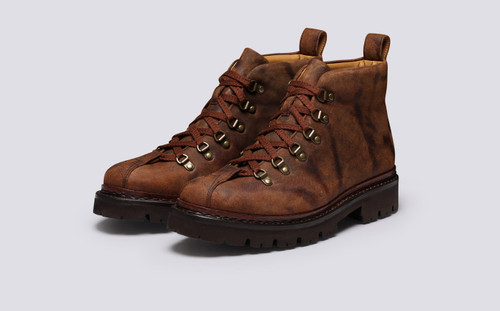 Bobby | Mens Hiker Boots in Brown Rambler Leather | Grenson - Main View