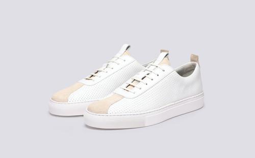 Grenson Sneaker 1 White Perforated Calf - Main View