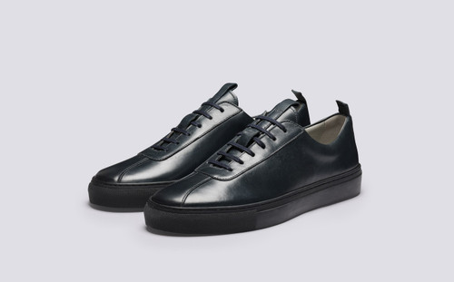 Sneaker 1 for Men in Navy Calf Leather - Main View