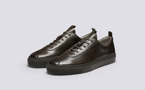 Grenson Sneaker 1 Mens Sneakers in Grey Green Leather - Main View