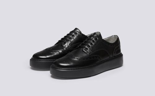 Sneaker 46 | Sneakers for Men in Black Calf Leather | Grenson - Main View