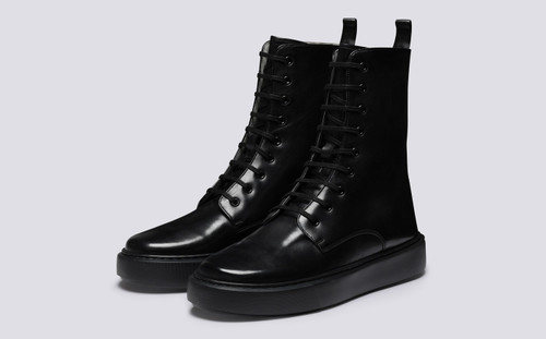 Sneaker 40 | Sneaker Boots for Men in Black Calf | Grenson - Main View