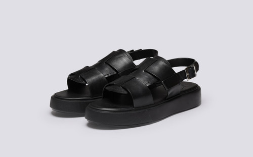 Wiley 2.0 | Mens Sandals in Black Calf Leather | Grenson - Main View