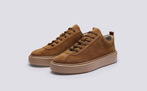Sneaker 30 | Mens Sneakers in Snuff Burnished Suede | Grenson - Main View