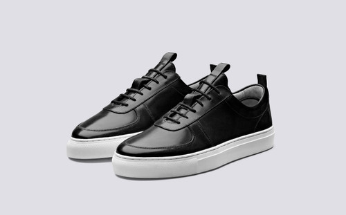 Sneaker 22 | Womens Sneakers in Black Calf Leather | Grenson - Main View