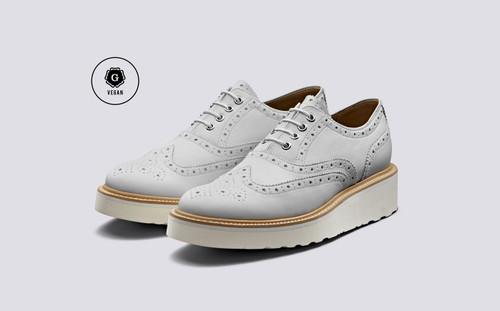 Emily | Vegan Shoes for Women in White | Grenson - Main View