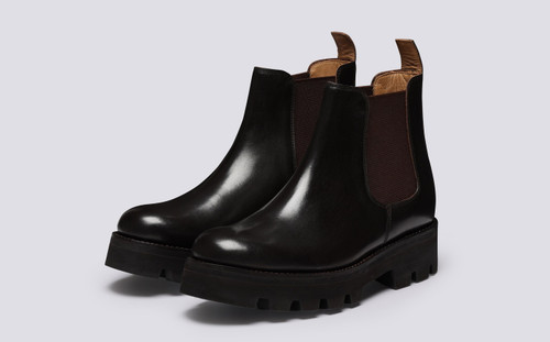Tamsin | Chelsea Boots for Women in Dark Brown | Grenson - Main View