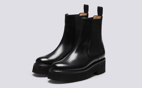 Nova | Womens Chelsea Boots in Black Leather | Grenson - Main View