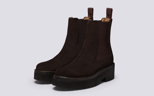 Nova | Womens Chelsea Boots in Brown Suede | Grenson - Main View