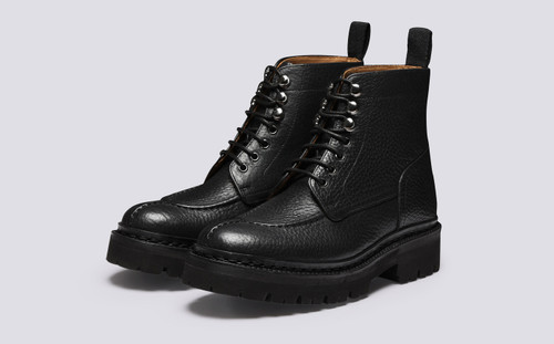 Alexandra | Womens Boots in Black Grain Leather | Grenson - Main View