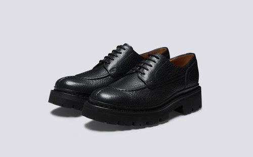 Nicolette | Womens Shoes in Black Grain Leather | Grenson - Main View