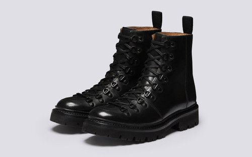 Nanette | Womens Hiker Boots in Black Colorado | Grenson - Main View