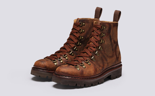Nanette | Hiker Boots for Women in Brown Rambler | Grenson - Main View