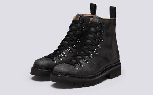 Nanette | Hiker Boots for Women in Black Rambler | Grenson - Main View