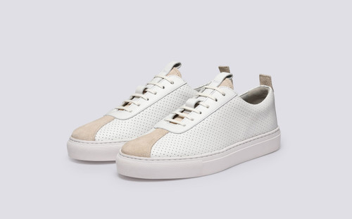 Grenson Sneaker 1 for Women in White Perforated Leather - Main View