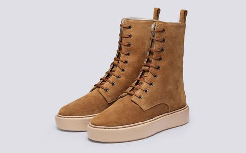 Sneaker 40 | Womens Sneaker Boots in Snuff Suede | Grenson - Main View