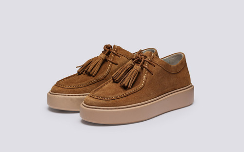 Sneaker 41 | Womens Sneakers in Burnished Snuff Suede | Grenson - Main View