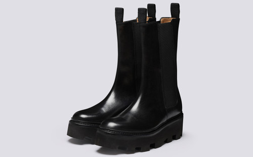 Doris | Chelsea Boots for Women in Black Leather | Grenson - Main View