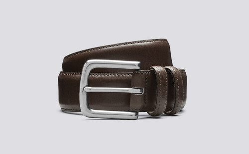 Grenson Casual Belt New Oak in Brown Leather - 3 Quarter View