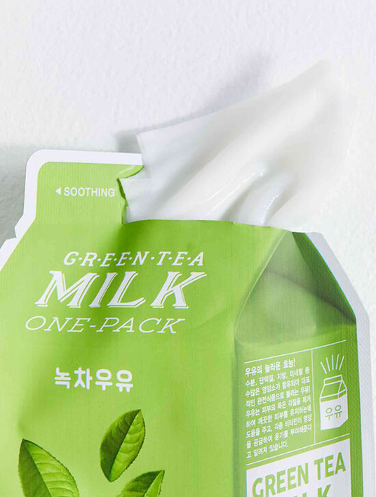 APIEU Green Tea Milk Sheet Mask (Soothing)