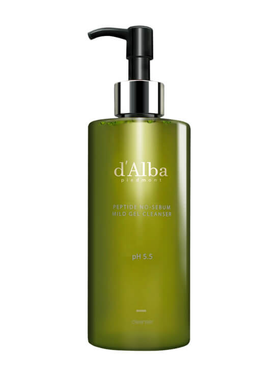 D'ALBA PIEDMONT Peptide No-Sebum Mild Gel Cleanser 300ml