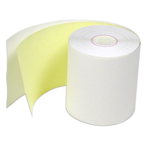 44x76 - 2 Ply White/Yellow Box 50 Bond Rolls