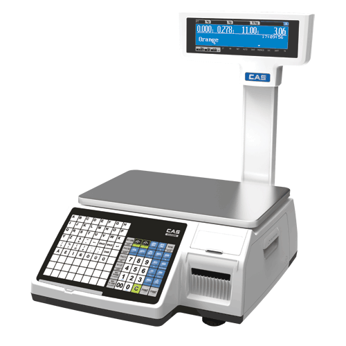 CAS CL-5200 Label Printing Scale with Pole 15Kg