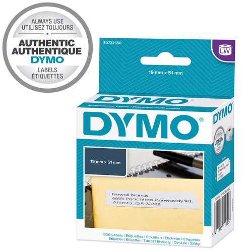 Dymo 19mm x 51mm Multi-purpose Removable White Labels