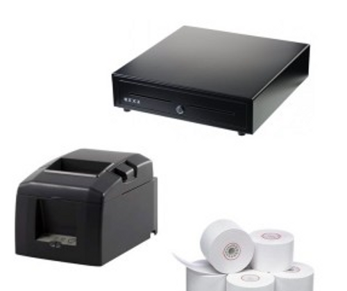 Apple iPad Square Bundle includes Star TSP654 Thermal Receipt Printer, Nexa CB910 Cash Drawer and a box of 24 80x80 Rolls