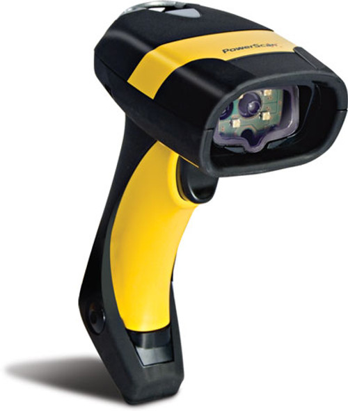 The PowerScan® D8500 Series Industrial 2D Imaging Scanner in Black & Yellow