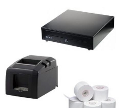 Apple iPad Shopify Bundle includes Star TSP654 Thermal Printer, Nexa CB910 Cash Drawer  and Box of 24 80x80 Rolls