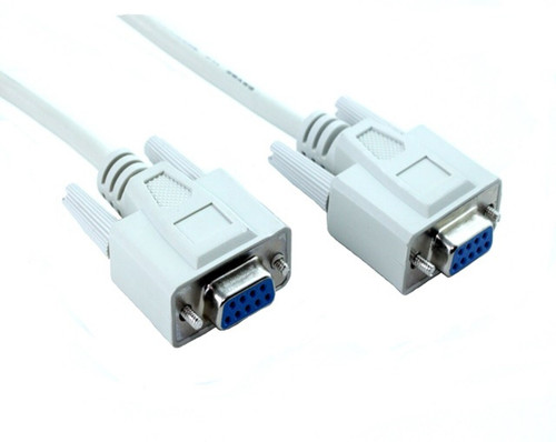 PRINTER CABLE RS232 DB09F/DB09F NULL/MODEM 2M WHI