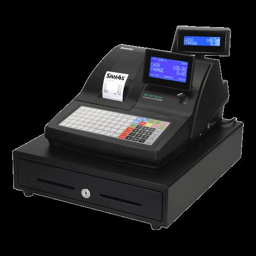 SAM4S NR-510 Single Station Thermal Electronic Cash Register in black