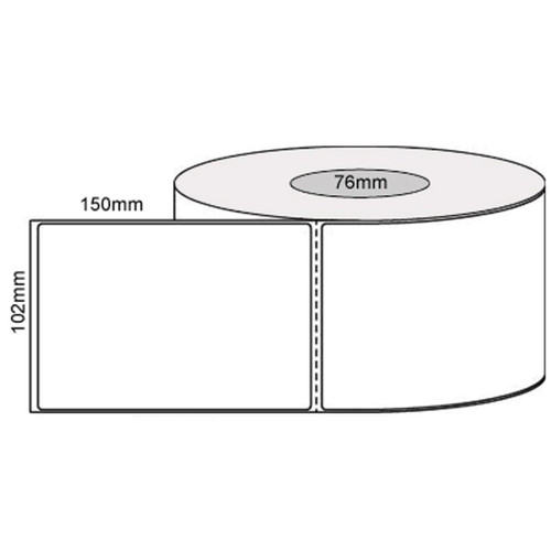 100mm x 150mm Synthetic Thermal Transfer label 1000 Label Per Roll on a 76mm Core (100mmx150mmx76)