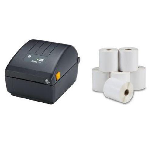 Zebra ZD220D 203DPI Direct Thermal Label Printer USB + 6 Shipping Label Rolls