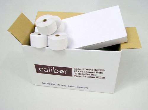 76MM X 48MM Thermal Paper Rolls 36 Rolls/Box