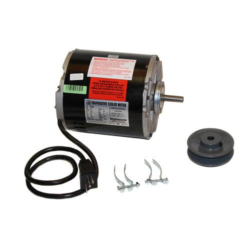 Swamp Cooler Motor Kit 1/2 Horsepower 230 Volt 2 Speed For Standard Cooler - Includes Pulley Plug and Clamps MKS1220