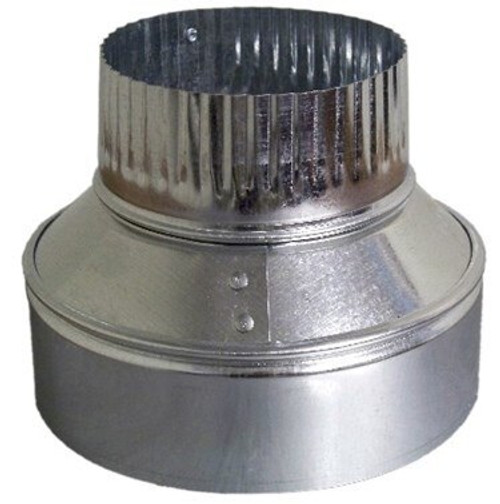 "4"" X 3"" Vent Pipe Reducer - HVAC Ductwork Sheet Metal"