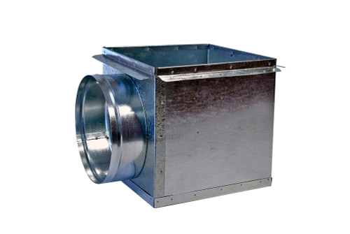 6 X 6 X 6 Side Out Ceiling Register Box - HVAC Ductwork Sheet Metal