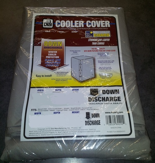 37 X 37 X 42 Swamp Cooler Cover Downdraft Polyester