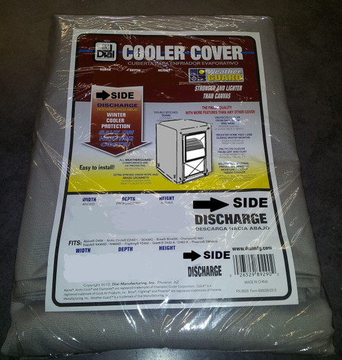 37 X 37 X 45 Swamp Cooler Cover Sidedraft Polyester