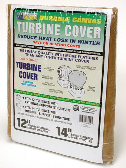 "14"" Roof Turbine Cover,  Whirlybird Cover Canvas 8551"