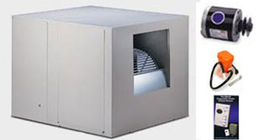 "Evaporative Cooler Complete System Bundle - 6800 CFM Sidedraft 8"" Pads - Aerocool Trophy TH6801C"