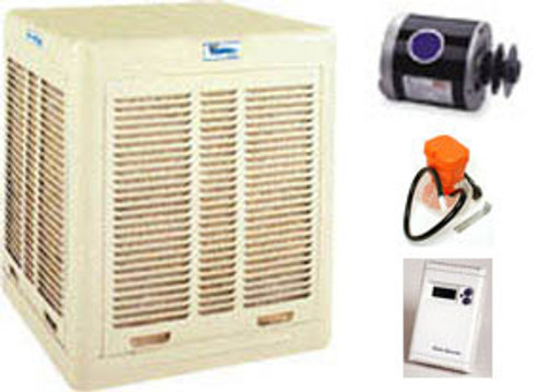 Evaporative Cooler Complete System Bundle - 3000 CFM Downdraft Aspen
