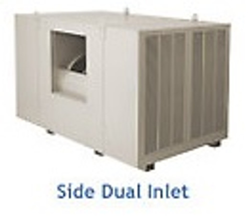 "20000 CFM Sidedraft Industrial Evaporative Cooler - 8"" Pads IS701"
